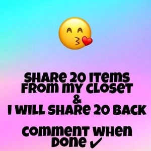 SHARE 20 ITEM'S I WILL SHARE BACK😘